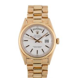 ROLEX | DAY-DATE, REF 1803 YELLOW GOLD WRISTWATCH WITH DAY, DATE AND