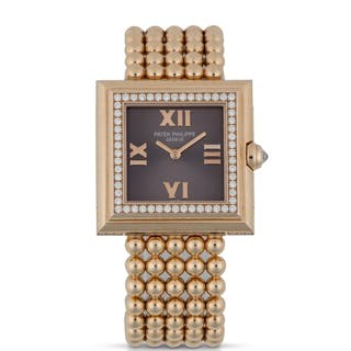 PATEK PHILIPPE | REF 4868/001 PINK GOLD AND DIAMOND-SET WRISTWATCH