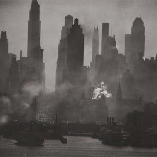 ANDREAS FEININGER | 'MIDTOWN MANHATTAN OPPOSITE W 42ND STREET, NEW