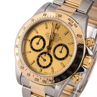 ROLEX | Daytona, Ref. 16523, A Stainless Steel and Yellow Gold Chronograph