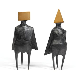 LYNN CHADWICK, R.A. | PAIR OF STANDING FIGURES