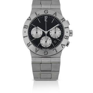 BULGARI | DIAGONO, REF CH 35 S STAINLESS STEEL CHRONOGRAPH WRISTWATCH