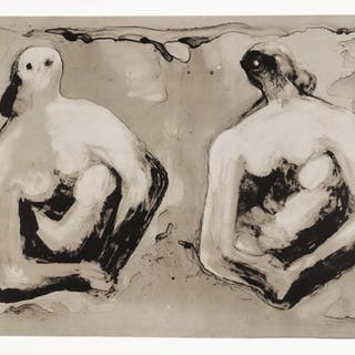 HENRY MOORE | SISTERS WITH CHILDREN (CRAMER 544)