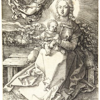 ALBRECHT DÜRER | THE VIRGIN AND CHILD CROWNED BY ONE ANGEL (B. 37;