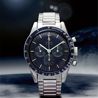 OMEGA    SPEEDMASTER REF 105.003-65 'SOFT GRAY DIAL',  A STAINLESS