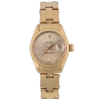 ROLEX | DATEJUST, REF 6917 YELLOW GOLD WRISTWATCH WITH DATE AND BRACELET