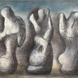 HENRY MOORE   THREE IDEAS FOR SCULPTURE