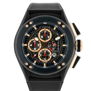 CVSTOS | CHALLENGE-R50 BLACKENED STAINLESS STEEL AND PINK GOLD CHRONOGRAPH