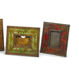 "TIFFANY STUDIOS | TWO ""DAISY"" PHOTOGRAPH FRAMES"