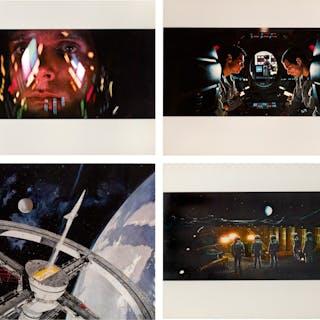 2001: A SPACE ODYSSEY (1968) FOUR OVERSIZED STILLS, US