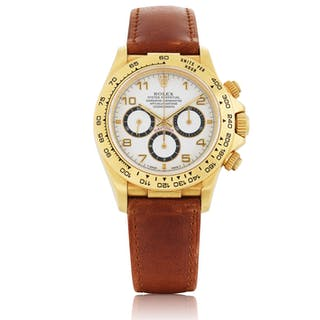 ROLEX | 'ZENITH' DAYTONA, REF 16518 YELLOW GOLD CHRONOGRAPH WRISTWATCH