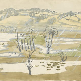 CHARLES EPHRAIM BURCHFIELD   UNTITLED (LANDSCAPE WITH TREES)