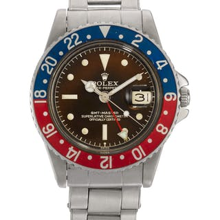 ROLEX | GMT-MASTER, TROPICAL EXCLAMATION POINT DIAL WITH EAGLE BEAK