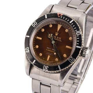 ROLEX | Submariner, Ref. 6538, A Stainless Steel Wristwatch with 4-Line