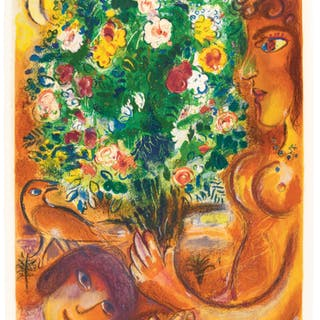 AFTER MARC CHAGALL | FEMME AU BOUQUET (MOURLOT CHARLES SORLIER 37)
