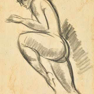 JOHN DUNCAN FERGUSSON, R.B.A.   STUDY OF A DANCER