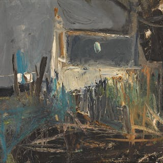 JOAN KATHLEEN HARDING EARDLEY, R.S.A. | COTTAGES, CATTERLINE