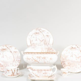 Willets Transfer Printed Porcelain in the 'Tropic' Pattern