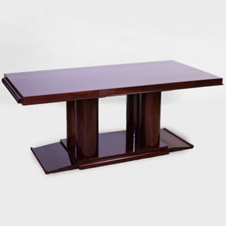 Art Deco Style Mahogany Extension Dining Table