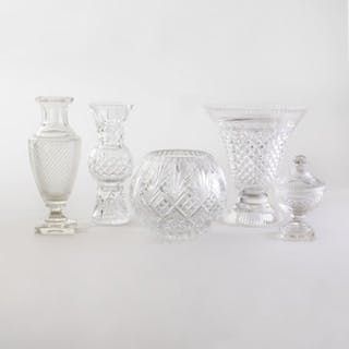 Group of Cut Glass Tablewares