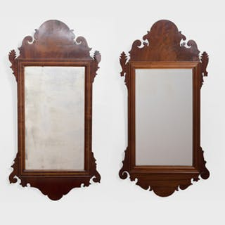 Two Similar Chippendale Style Mahogany Mirrors