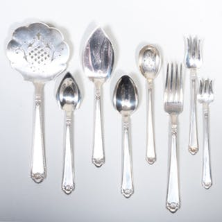 Watson Company Silver Part Flatware Service in the 'George II Rex' Pattern