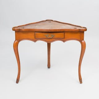 Louis XV Style Provincial Fruitwood Corner Table
