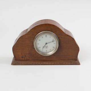 Smith's MA British Luxury Car Clock in an Oak Mount