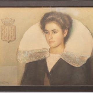 George M. Haushalter (1862-1943): Portrait of a Woman