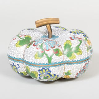 Chinese Cloisonné Enamel Gourd Shaped Box