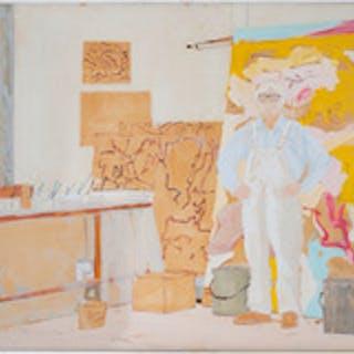 John MacWhinnie (b. 1945): Willem de Kooning Study #2