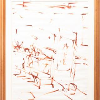 John Macwhinnie (b. 1945): Sketch of de Kooning's studio