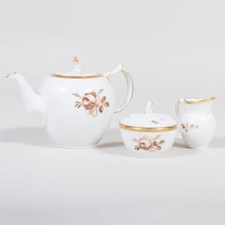 Royal Copenhagen Porcelain Three Piece Tea Service