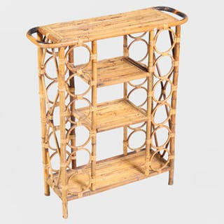 Bamboo Four-Tiered Side Table