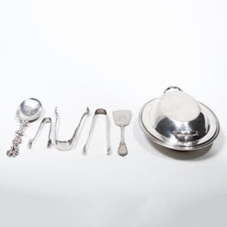 Group of Silver and Silver Plate Table Articles