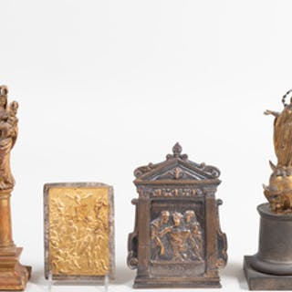 Group of Four Continental Religious Objects