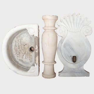 Wall Mounted Marble Fountain and Basin