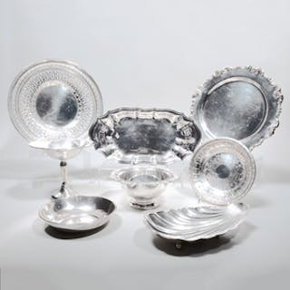 Group of Six American Silver Table Wares