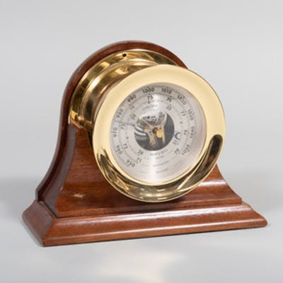 Tiffany 'Chelsea' Brass Ship Barometer