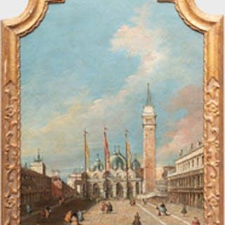 Italian School: The Piazza San Marco, Venice