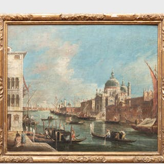 Italian School: The Grand Canal, Venice, from the Campo Sta Maria