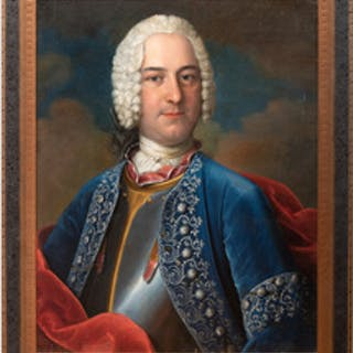European School: Portrait of a Gentleman in Military Costume