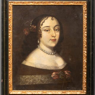 European School: Portrait of a Lady with Pearls