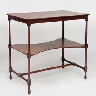 George III Style Mahogany Two-Tiered Side Table