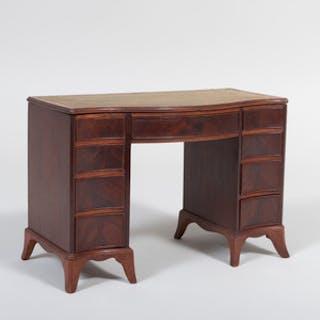 George III Style Mahogany Miniature Kneehole Desk