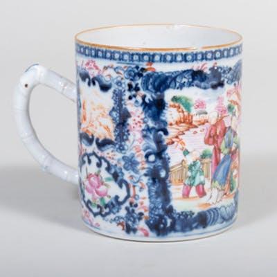 Chinese Export Porcelain Mandarin Palette Mug