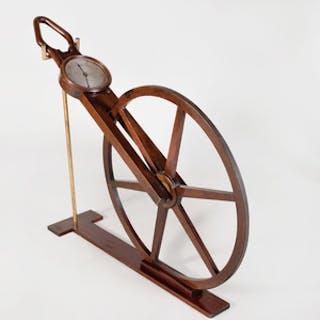"English Mahogany ""Waywiser"" Surveyor's Odometer"