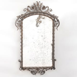Unusual Cast-Iron Mirror, Possibly American