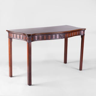 George III Mahogany Serpentine-Fronted Serving Table