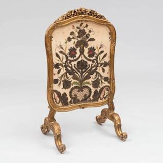 Louis XV Style Giltwood Firescreen